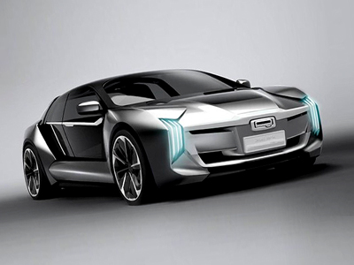 观致发布Model K-EV概念车预告图