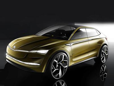 斯柯达Vision E概念车预告图发布 上海车展首发