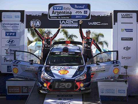 WRC现代车队阿根廷站夺冠