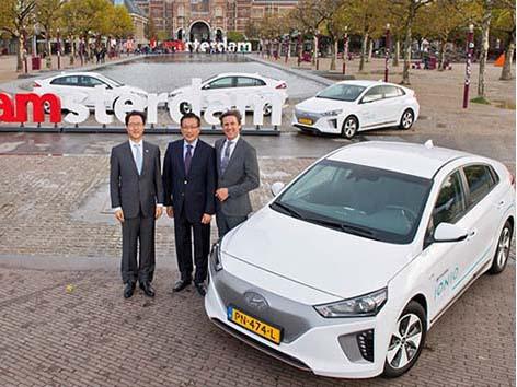 现代汽车将在欧洲推出电动车共享服务
