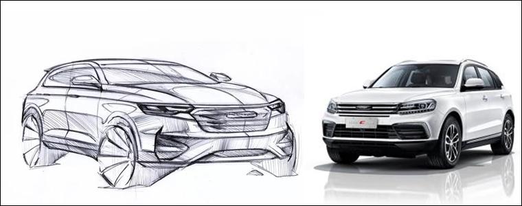 全新众泰T600设计草图曝光 新车有望年内上市