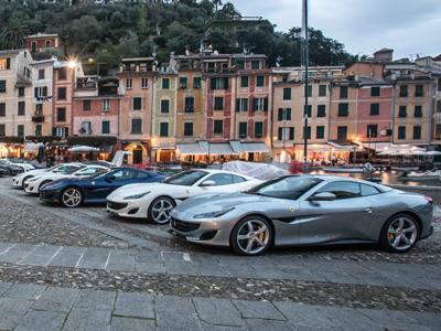 法拉利Portofino回溯命名地  开启横跨欧洲60多市新旅程