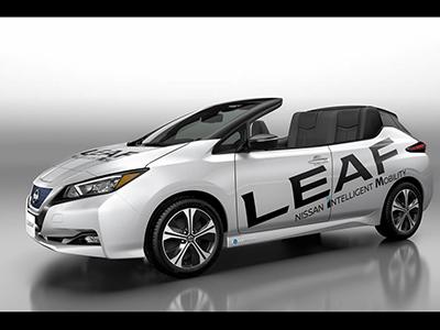 电动敞篷车 日产聆风Open Car官图发布