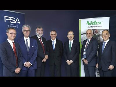 开发电动马达 日本电产与PSA建合资公司