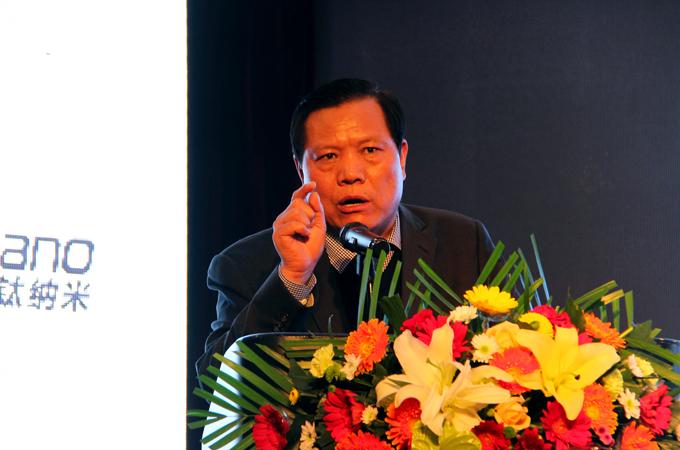 银隆集团董事长魏银仓做《钛酸锂技术的广泛应用》主题演讲