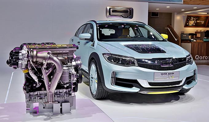 北京车展亮相的观致QamFree发动机技术将在广州车展实现样车上路测试